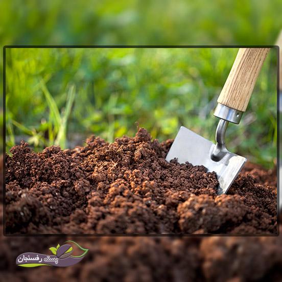اضافه کردن مالچ با خاک باغچه