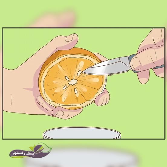 جمع آوری و تمیز کردن دانه های پرتقال