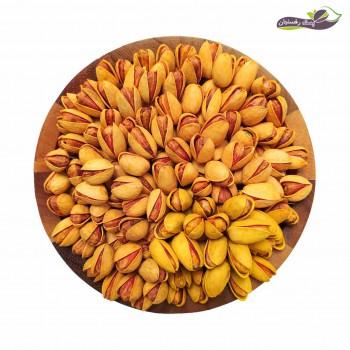 بسته طلایی نمکی پسته رفسنجان (پکیج چهار رقم ممتاز پسته شور شده زعفرانی)