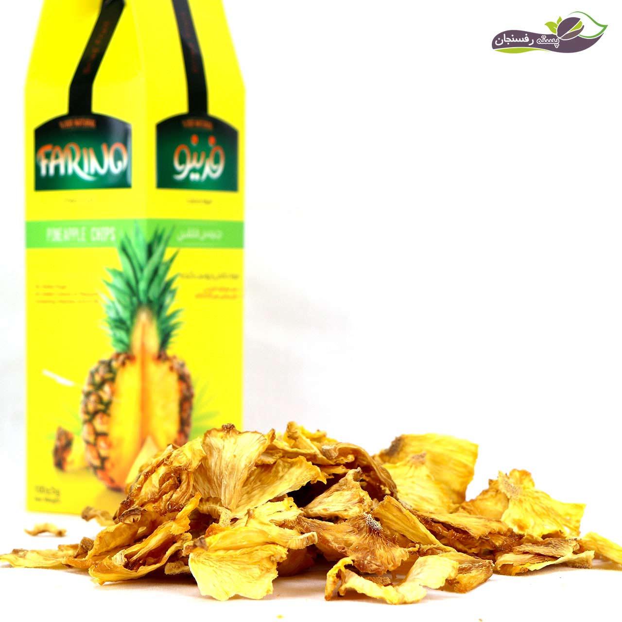 آناناس خشک فرینو (چیپس آناناس) 100 گرم