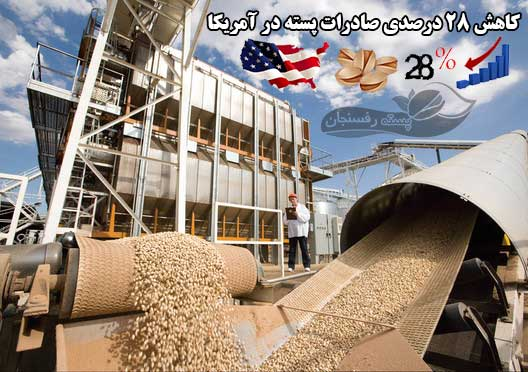کاهش 28% درصدی صادرات پسته در آمریکا